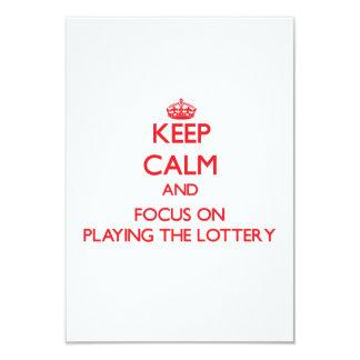 Guarde la calma y el foco en jugar la lotería invitación 8,9 x 12,7 cm