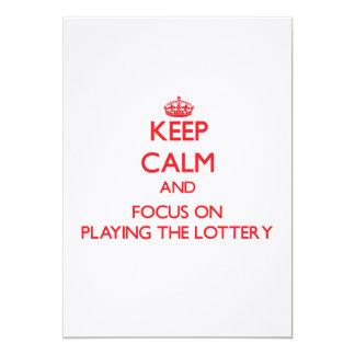 Guarde la calma y el foco en jugar la lotería invitaciones personales