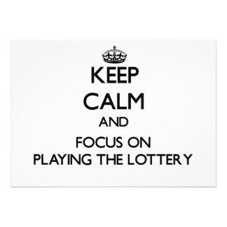Guarde la calma y el foco en jugar la lotería invitación