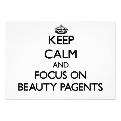 Guarde la calma y el foco en la belleza Pagents Comunicado