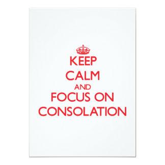 Guarde la calma y el foco en la consolación invitaciones personales