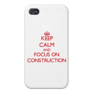 Guarde la calma y el foco en la construcción iPhone 4/4S carcasa