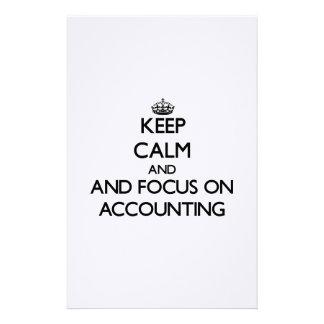 Guarde la calma y el foco en la contabilidad papeleria