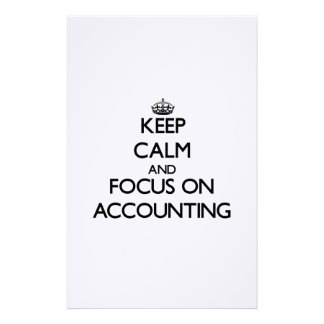 Guarde la calma y el foco en la contabilidad papelería personalizada