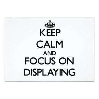 Guarde la calma y el foco en la exhibición invitación 12,7 x 17,8 cm