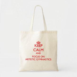 Guarde la calma y el foco en la gimnasia artística bolsas de mano