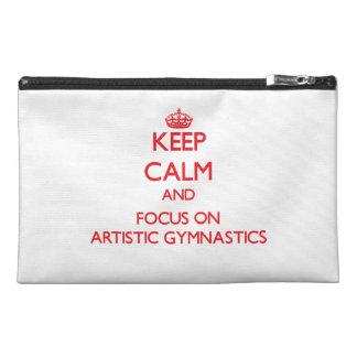 Guarde la calma y el foco en la gimnasia artística