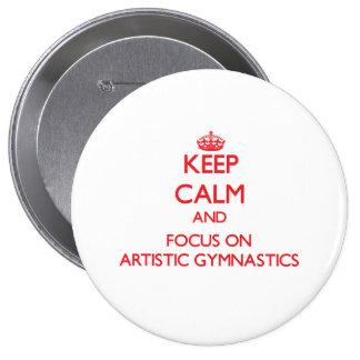 Guarde la calma y el foco en la gimnasia artística pins