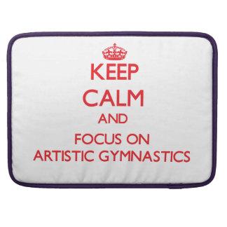 Guarde la calma y el foco en la gimnasia artística fundas para macbooks