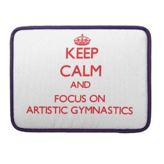 Guarde la calma y el foco en la gimnasia artística fundas para macbook pro