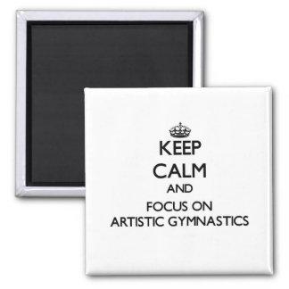 Guarde la calma y el foco en la gimnasia artística imanes para frigoríficos