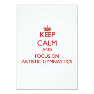 Guarde la calma y el foco en la gimnasia artística comunicado personal