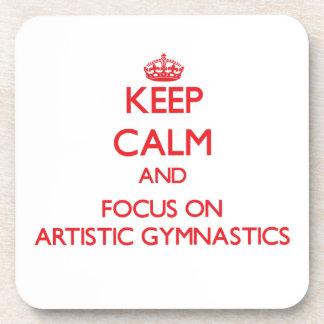 Guarde la calma y el foco en la gimnasia artística posavaso