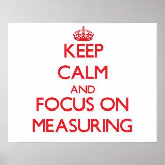 Guarde la calma y el foco en la medición impresiones