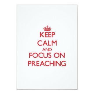 Guarde la calma y el foco en la predicación invitación 12,7 x 17,8 cm
