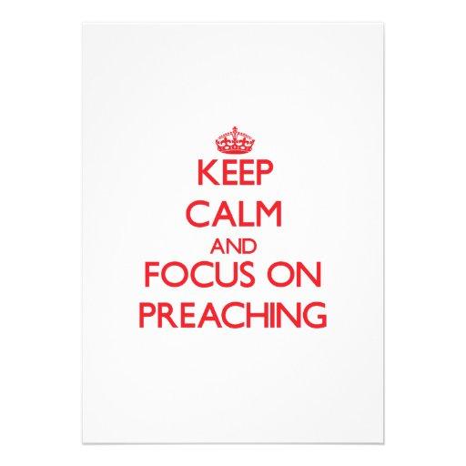 Guarde la calma y el foco en la predicación invitacion personal