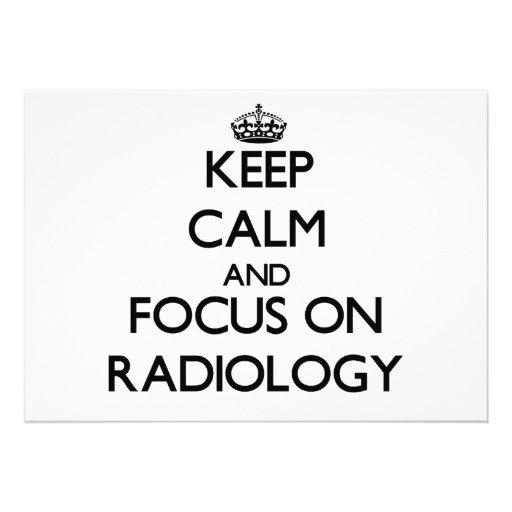 Guarde la calma y el foco en la radiología anuncio