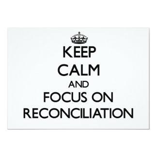 Guarde la calma y el foco en la reconciliación invitación