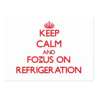 Guarde la calma y el foco en la refrigeración tarjetas de visita