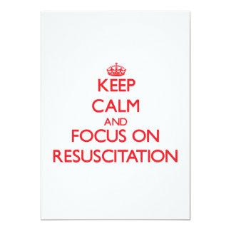 Guarde la calma y el foco en la resucitación comunicados personalizados