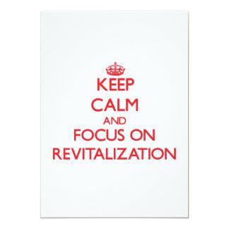 Guarde la calma y el foco en la revitalización comunicados personalizados