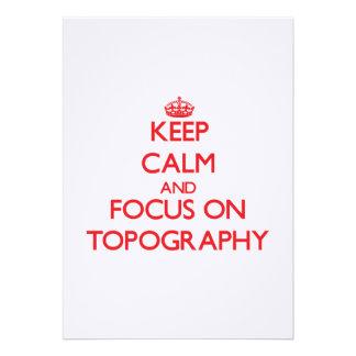 Guarde la calma y el foco en la topografía comunicado