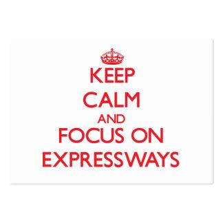 Guarde la calma y el foco en las AUTOPISTAS Tarjeta De Visita