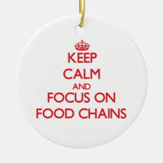 Guarde la calma y el foco en las cadenas ornamento de reyes magos