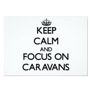 Guarde la calma y el foco en las caravanas invitacion personal