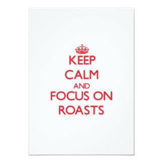 Guarde la calma y el foco en las carnes asadas comunicados personalizados