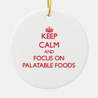 Guarde la calma y el foco en las comidas aceptable