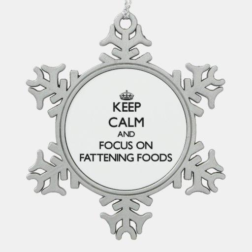 Guarde la calma y el foco en las comidas de la ceb adorno