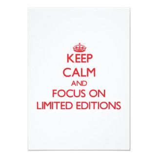 Guarde la calma y el foco en las ediciones invitaciones personalizada
