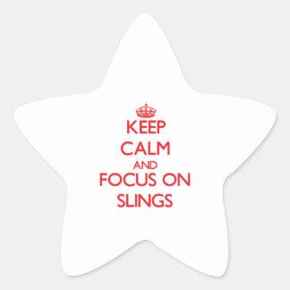 Guarde la calma y el foco en las hondas