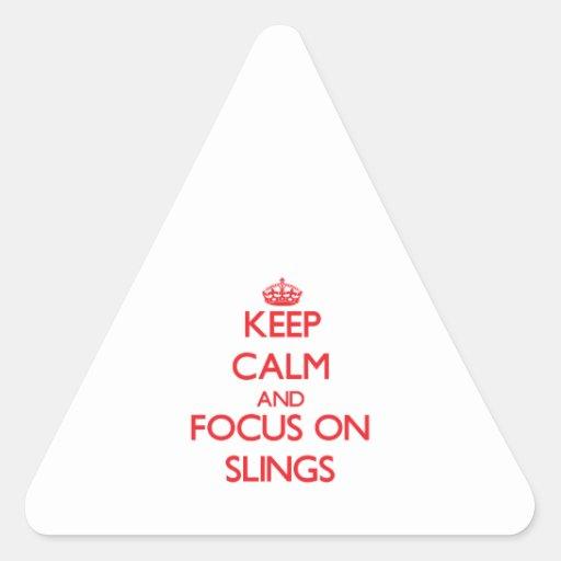 Guarde la calma y el foco en las hondas colcomanias trianguladas personalizadas