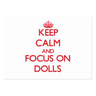Guarde la calma y el foco en las muñecas tarjeta de visita
