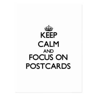 Guarde la calma y el foco en las postales