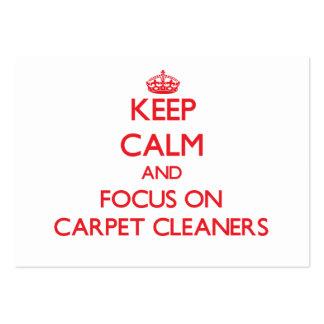 Guarde la calma y el foco en limpiadores de la alf