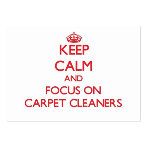 Guarde la calma y el foco en limpiadores de la alf tarjetas de visita