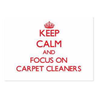 Guarde la calma y el foco en limpiadores de la tarjetas de visita grandes
