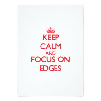 Guarde la calma y el foco en los BORDES Invitación Personalizada