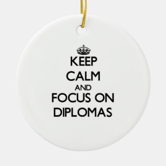 Guarde la calma y el foco en los diplomas
