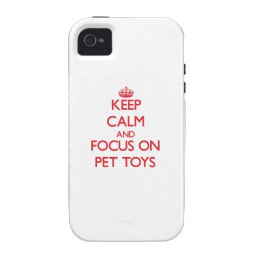 Guarde la calma y el foco en los juguetes del masc vibe iPhone 4 carcasas