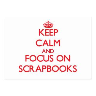 Guarde la calma y el foco en los libros de recuerd