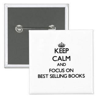Guarde la calma y el foco en los libros superventa pin