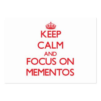 Guarde la calma y el foco en los recuerdos