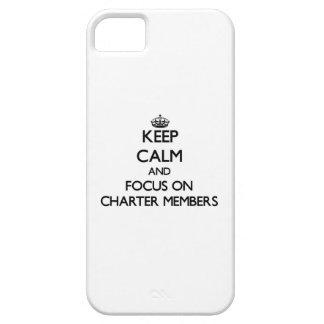 Guarde la calma y el foco en los socios fundadores iPhone 5 carcasas