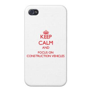 Guarde la calma y el foco en los vehículos de la c iPhone 4/4S carcasas