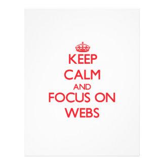 Guarde la calma y el foco en los Web Tarjetas Publicitarias