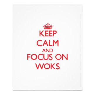 Guarde la calma y el foco en los Woks Flyer A Todo Color